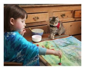 iris kat schilderen